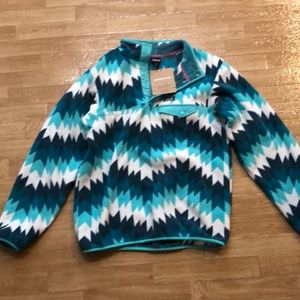 Patagonia Girls' Snap T pullover XXL NEW